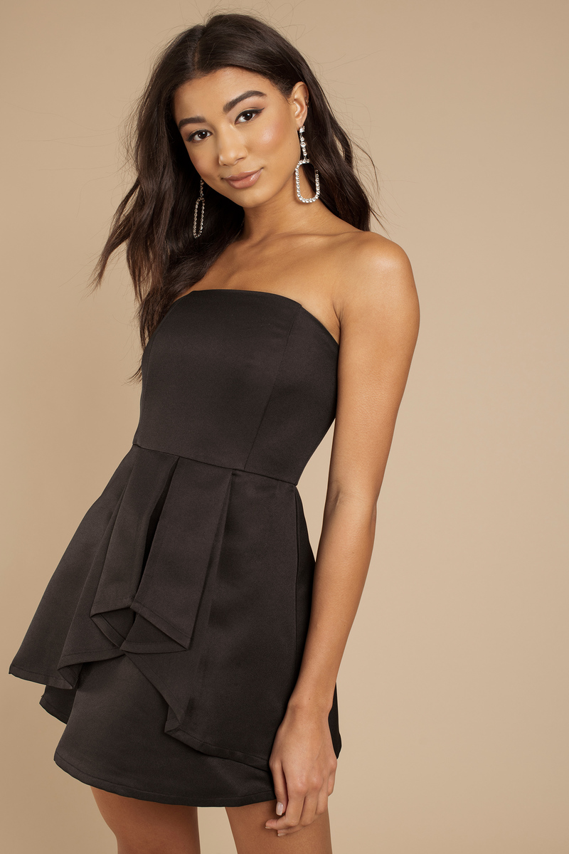 Love Story Black Skater Dress