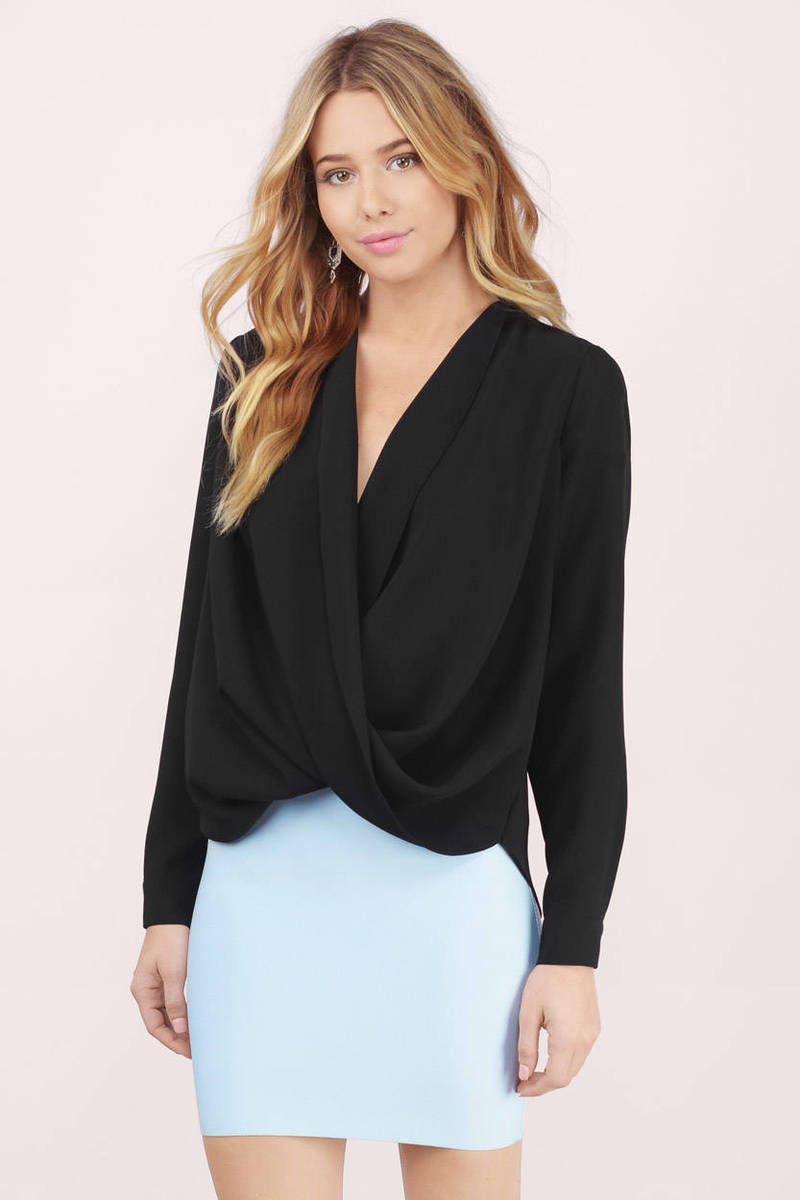 Loveletter Black Chiffon Blouse