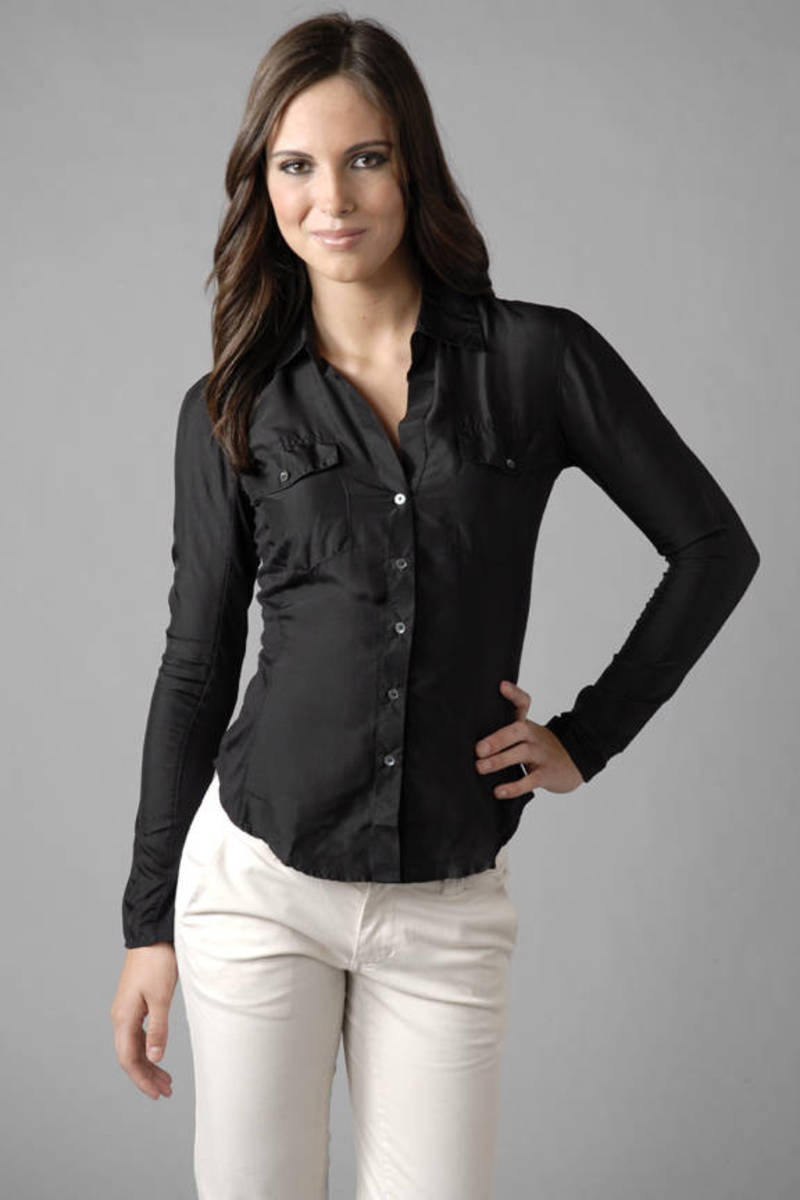 60b8da5b8e483 Black James Perse Shirt - Button Up Shirt - Black Western Shirt ...