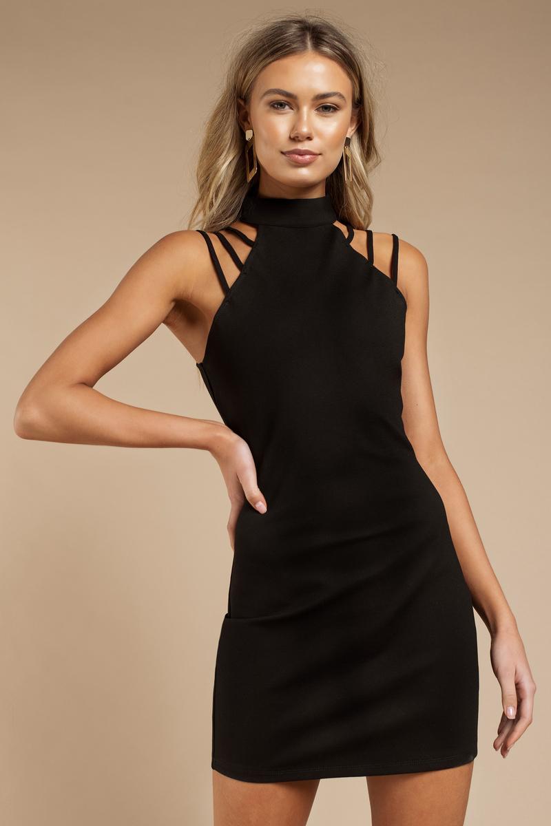 Macey Black Bodycon Dress