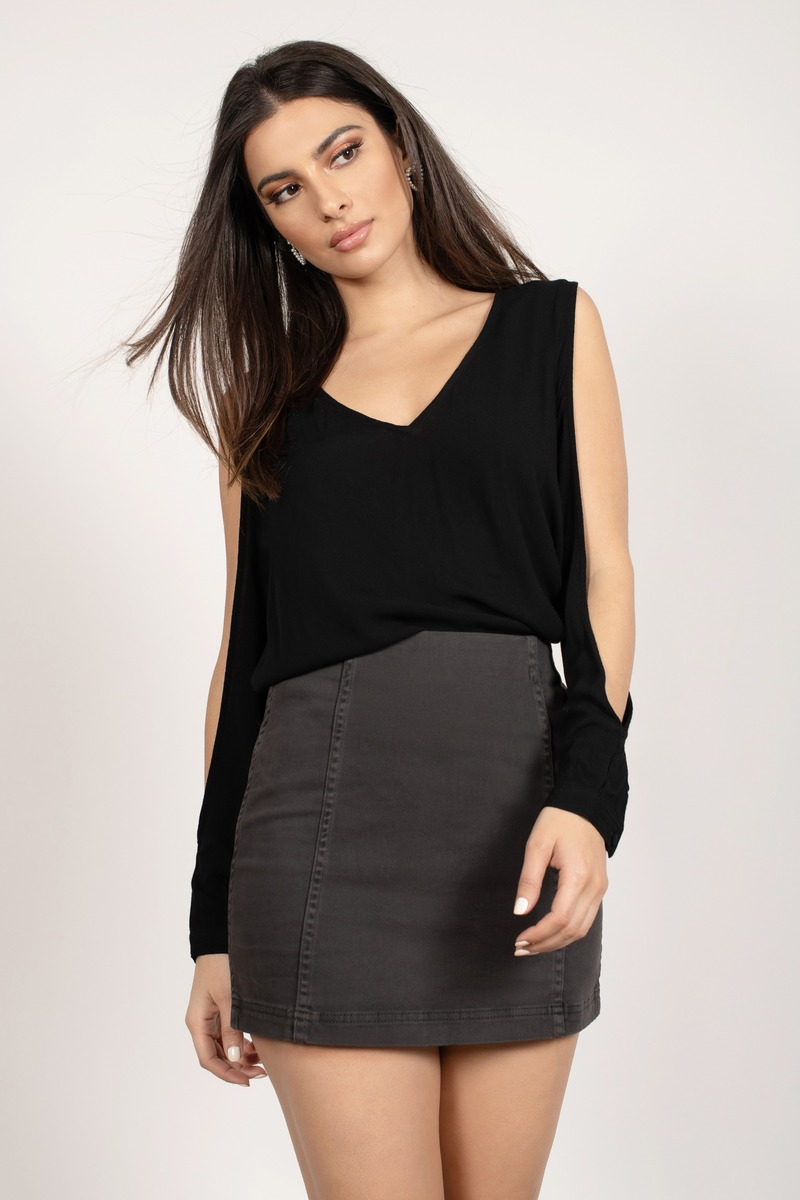 Maci Black Blouse