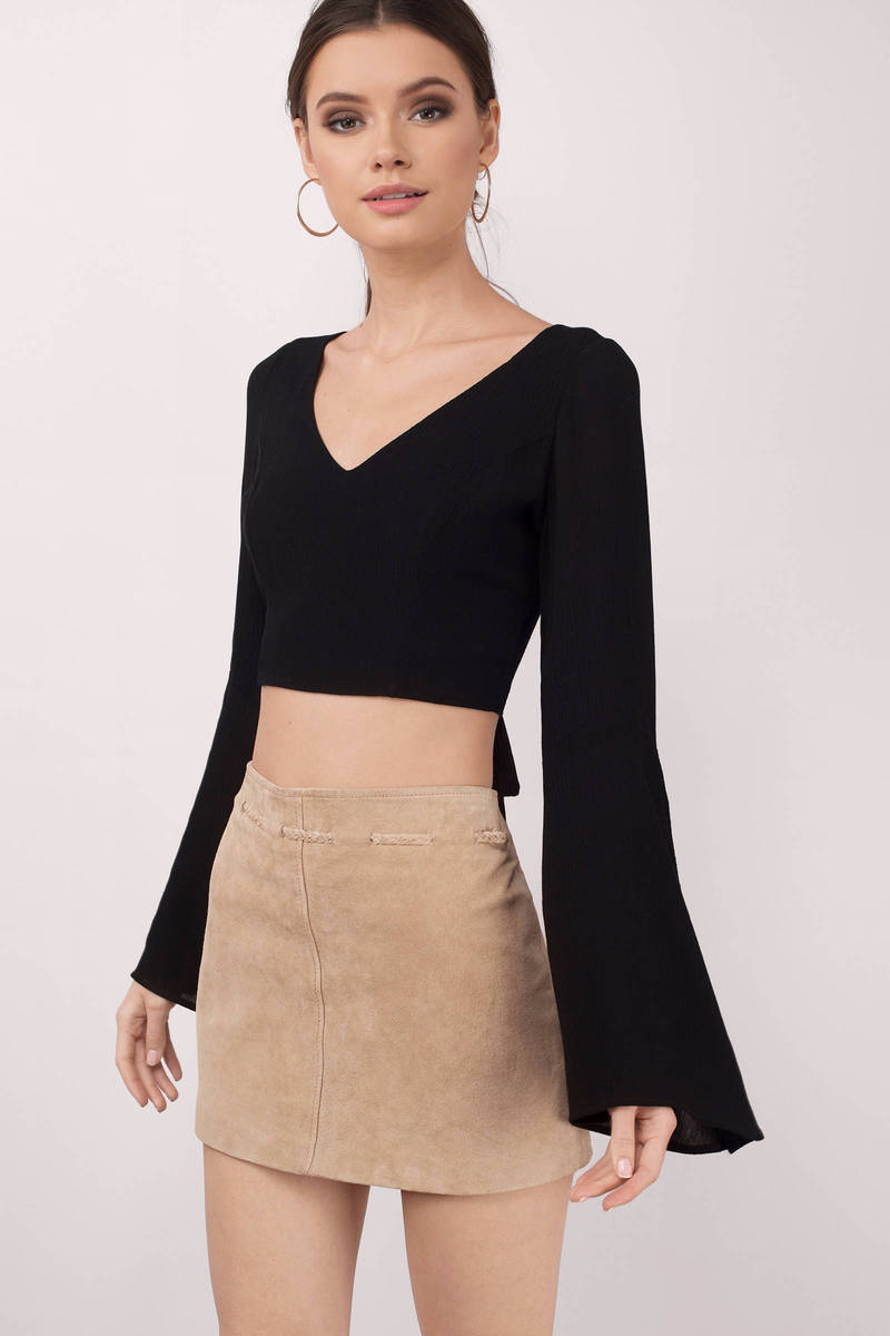 Mackenzie Black Crop Top