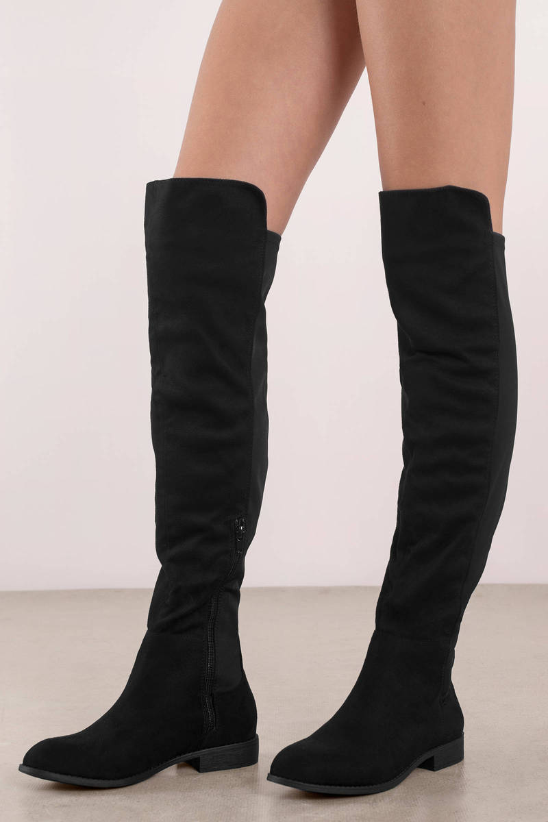 6529f5243eb Maddy Faux Suede Over The Knee Boots