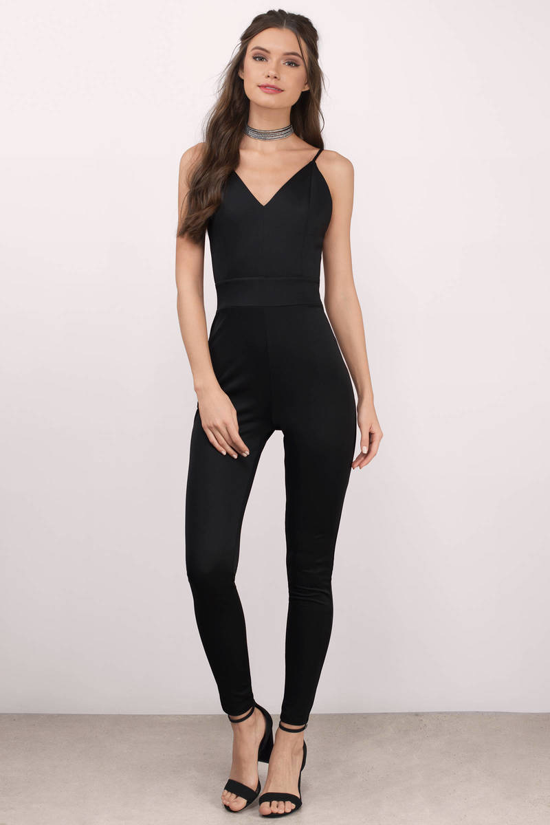 Mandy Black Knitted Jumpsuit