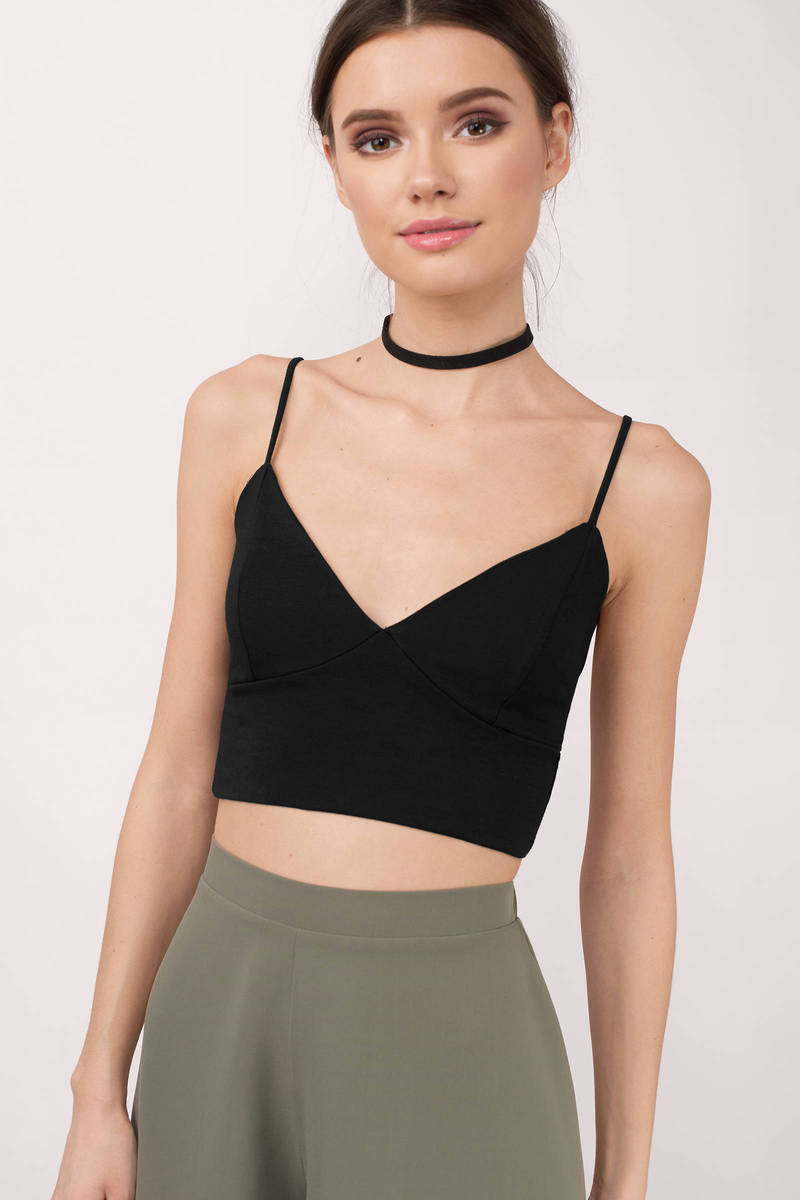 Maria Black Cami Crop Top