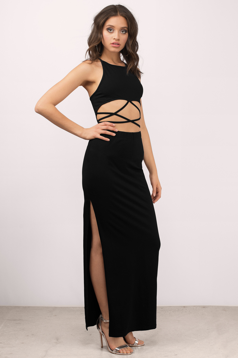 Marianna Black Maxi Dress