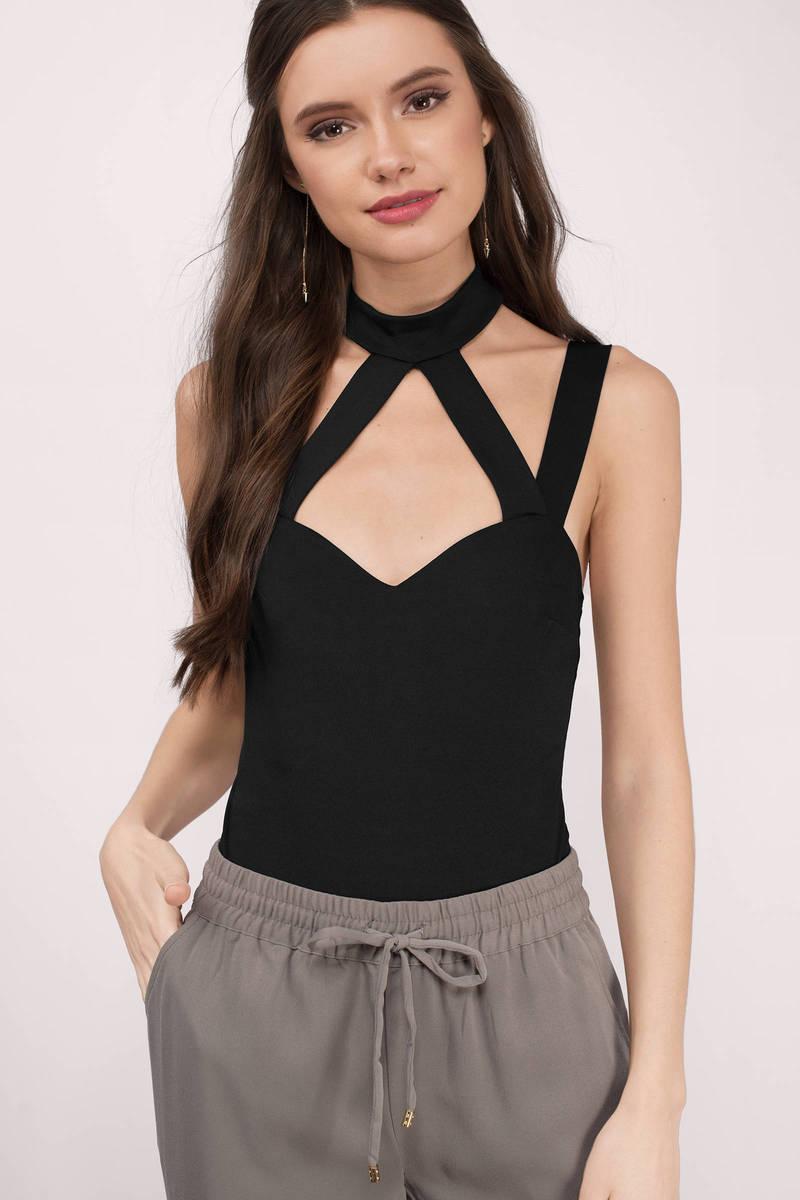 Maribel Black Knitted Bodysuit