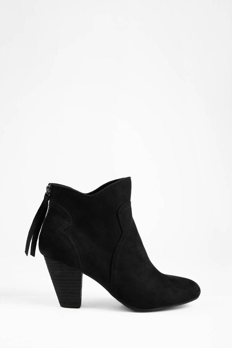 Black Boots - Black Boots - Round Toe Boots - $62.00