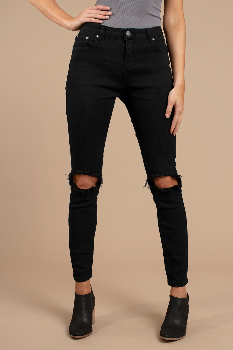 Mateo Black Distressed Skinny Jeans