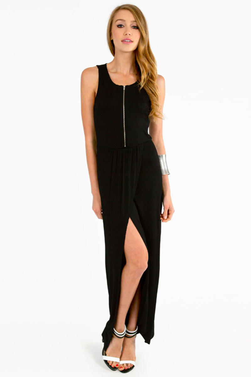 Maxine Zipped  Maxi Dress
