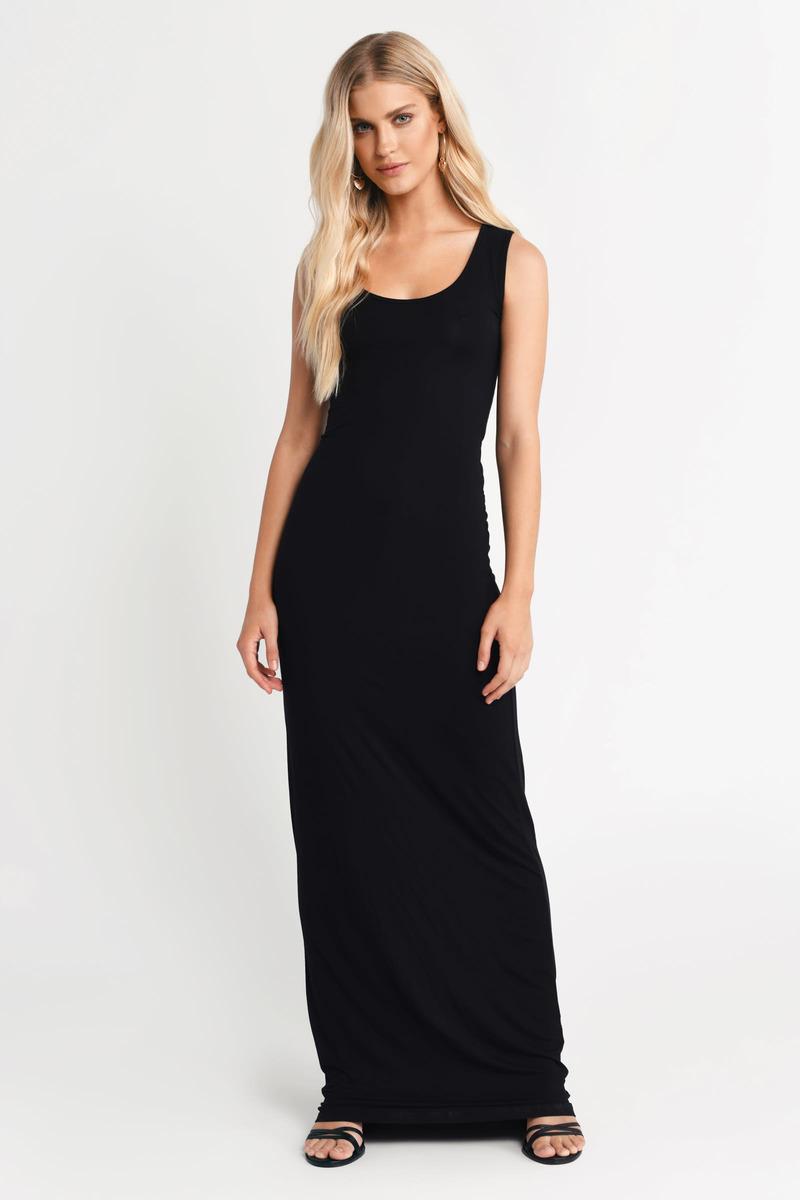 Melania Black Maxi Dress