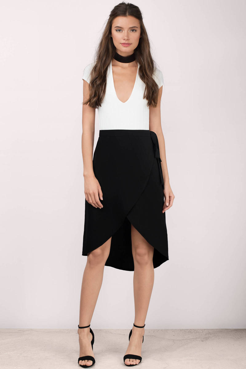 Melrose Black Midi Skirt