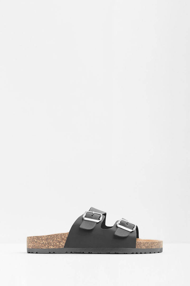 Michiko Double Buckle Slip On Sandals