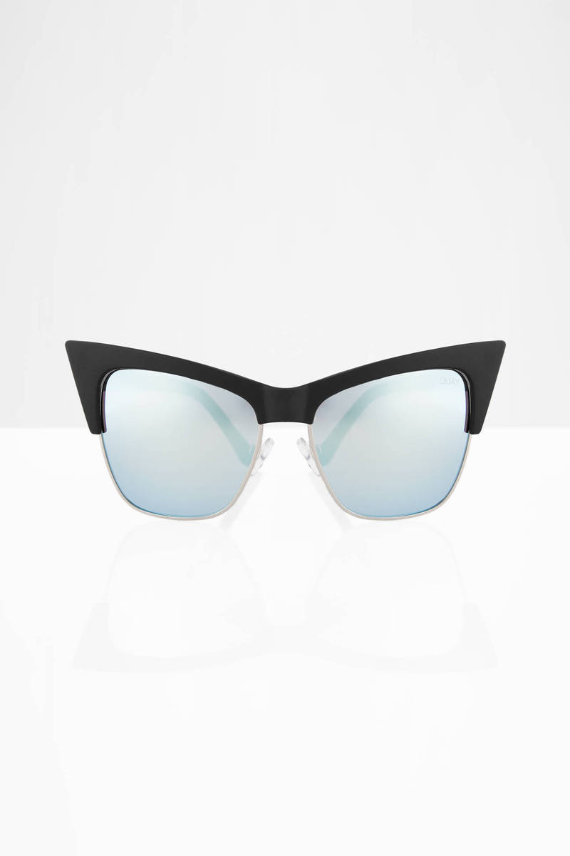QUAY Tysm Black & Mint  Sunglasses