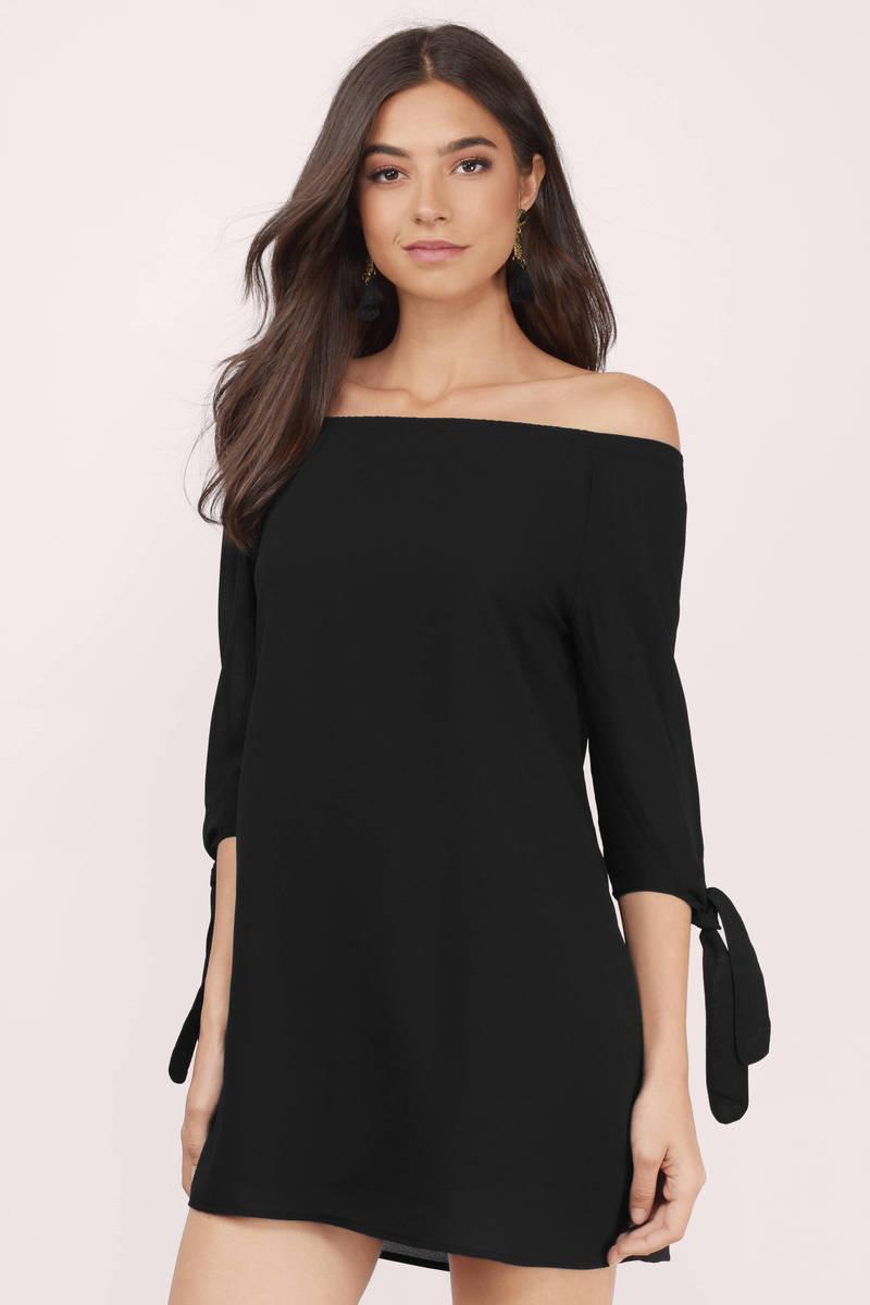 Miss Genial Off Shoulder Dress
