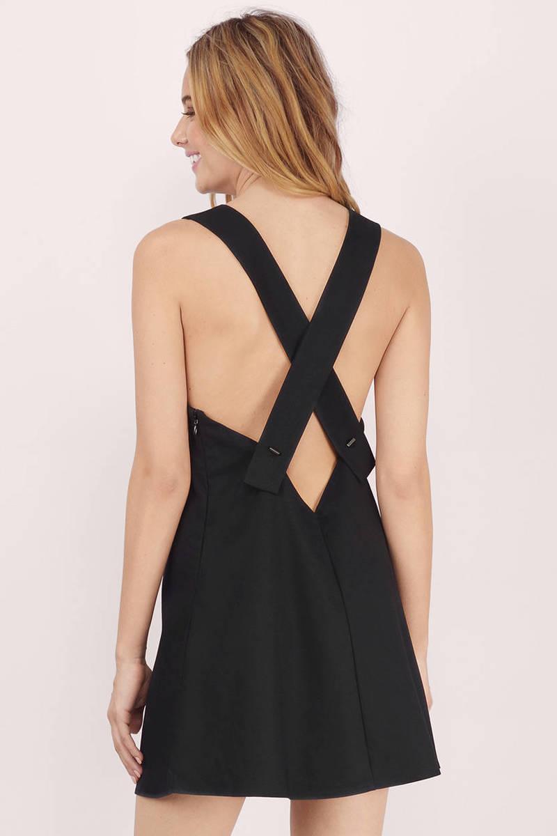Miss Popular Black Shift Dress