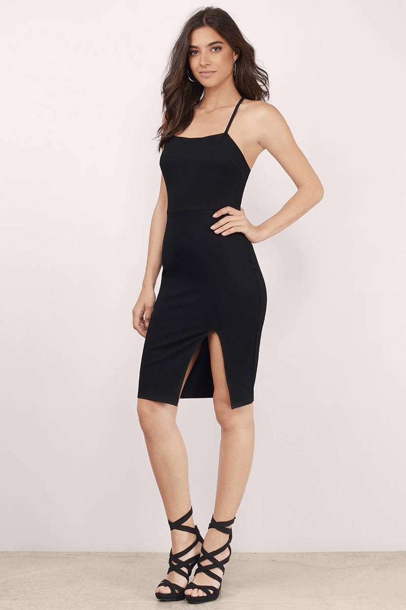 Misty Black Bodycon Dress