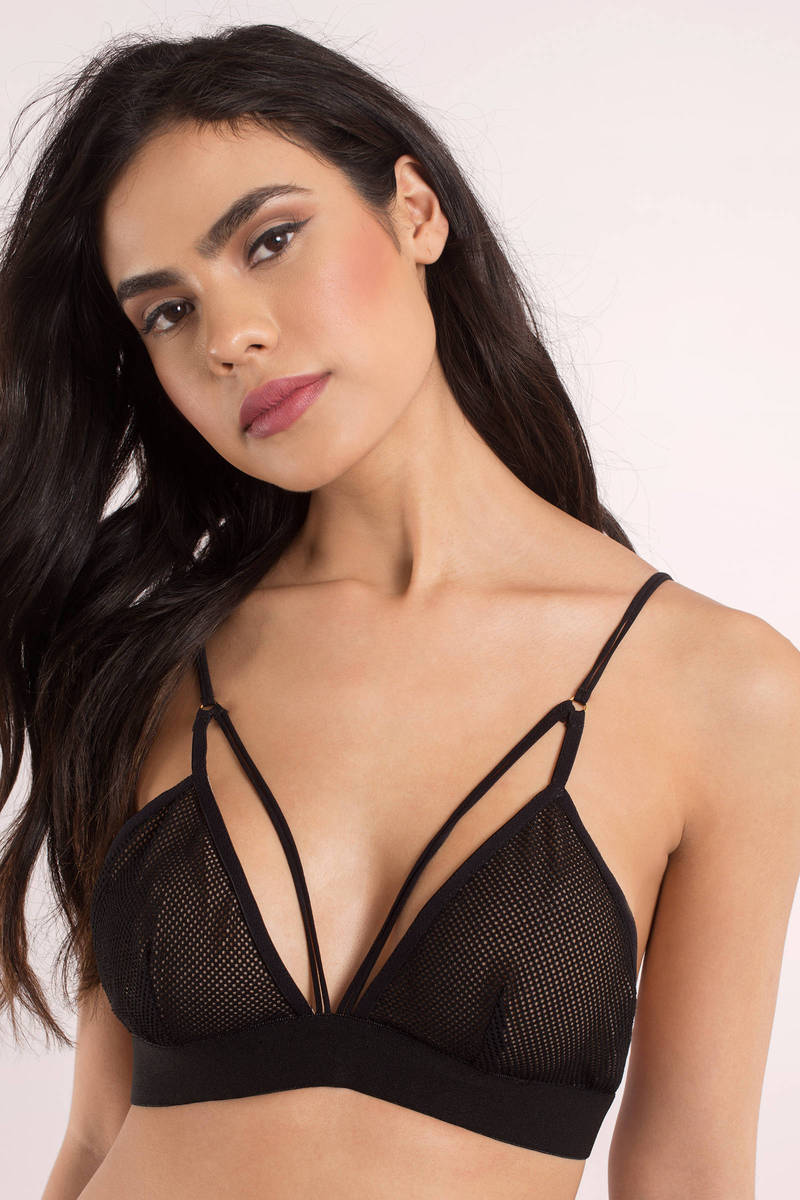 Molly Black Mesh Bralette