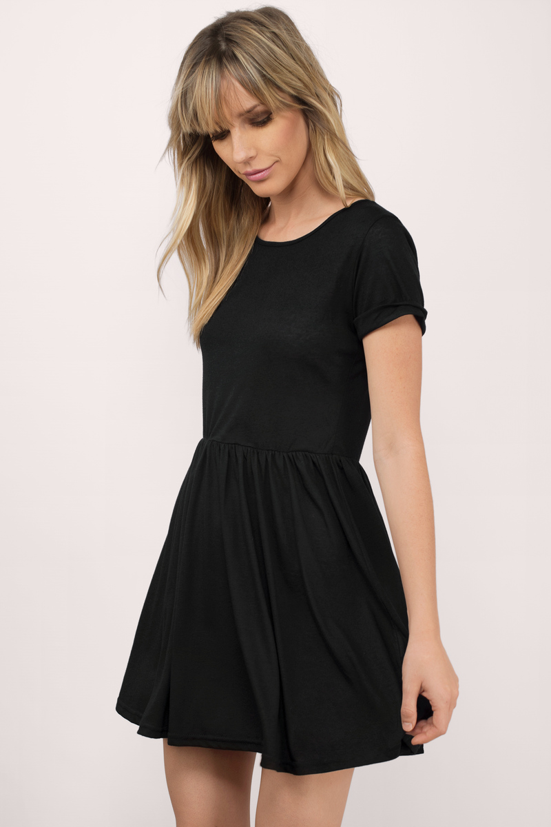 Monique Black Skater Dress