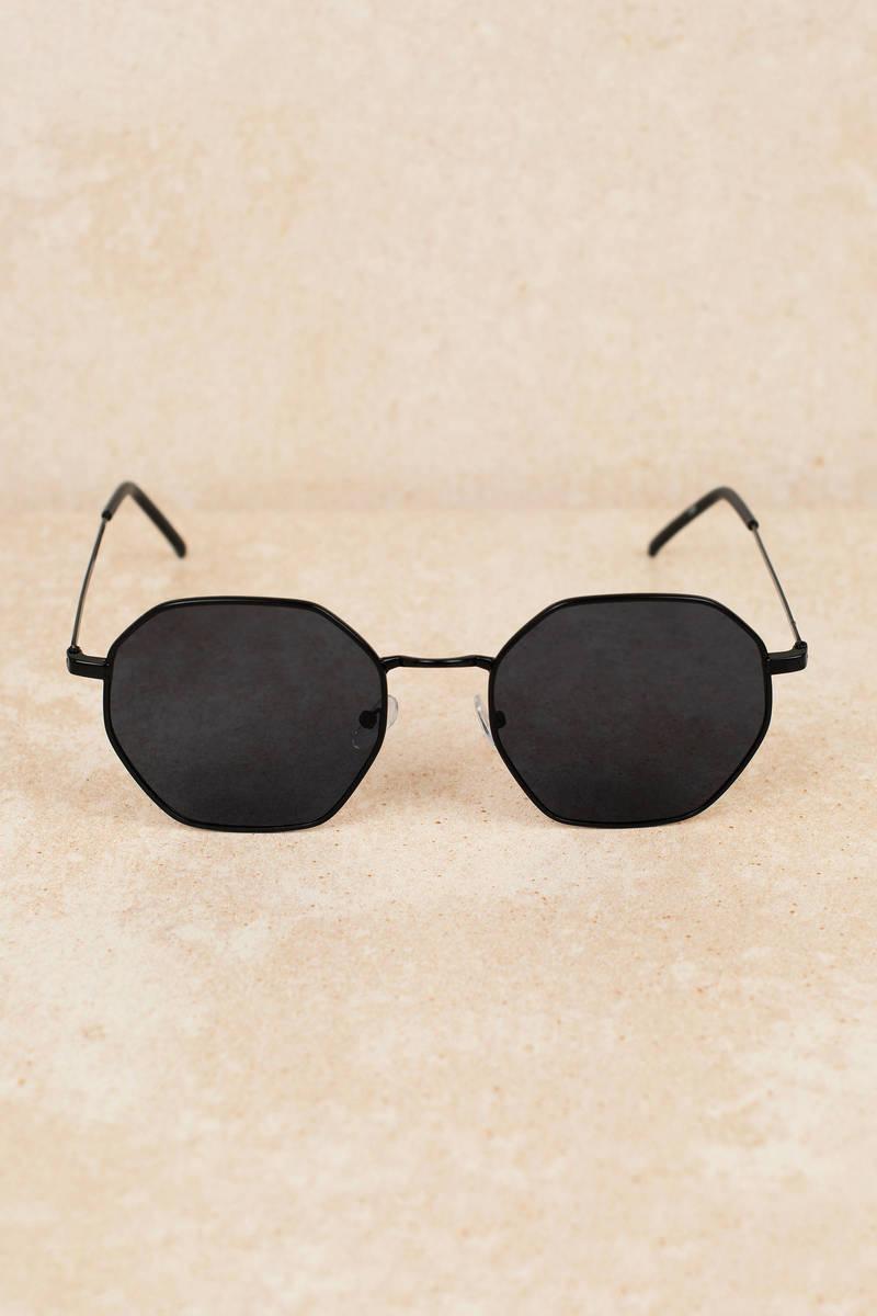 427b3679e6 Larissa Octagon Shaped Black Multi Sunglasses -  16