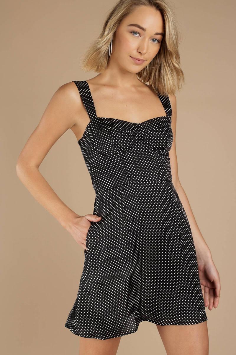 Capulet Capulet Vivi Black Multi Polka Dot Bustier Dress bae6ac23d