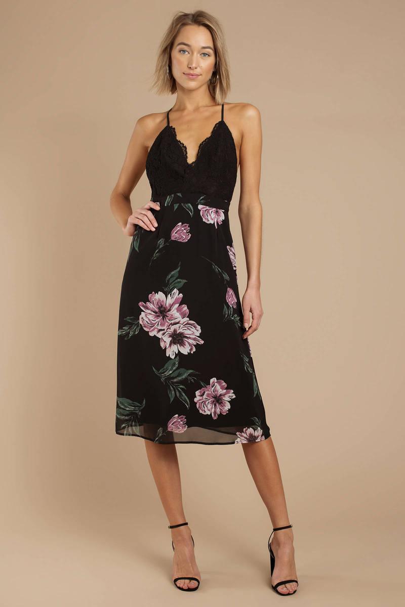 Win The Lace Floral Midi Dress