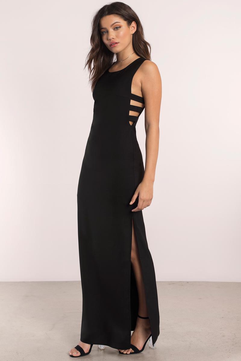 Natasha Black Maxi Dress