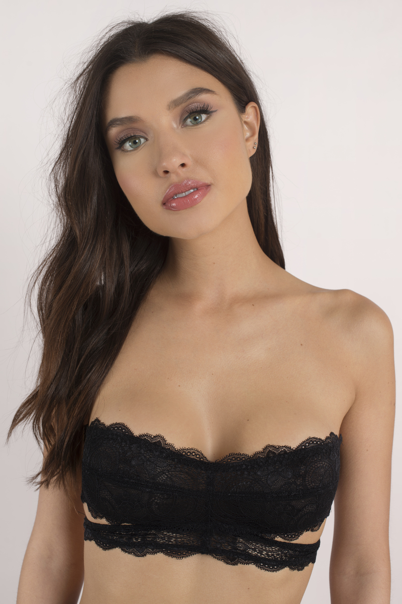 Trendy Black Bra - Black Bra - Lace Bra -  22.00. Need You Black Lace  Bandeau. Fashion Forms Bandeau Bra BQ663 29663 ... b262134df