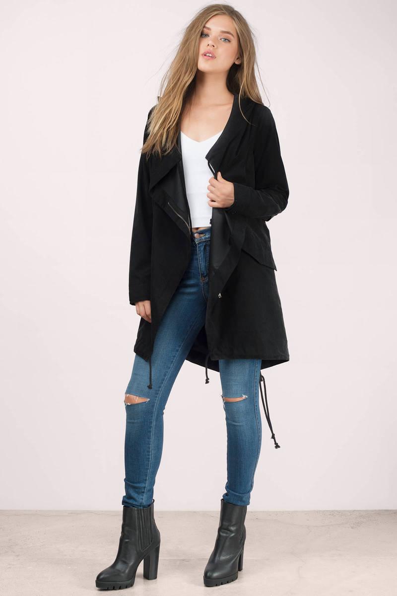 Never Let Go Black Anorak Jacket