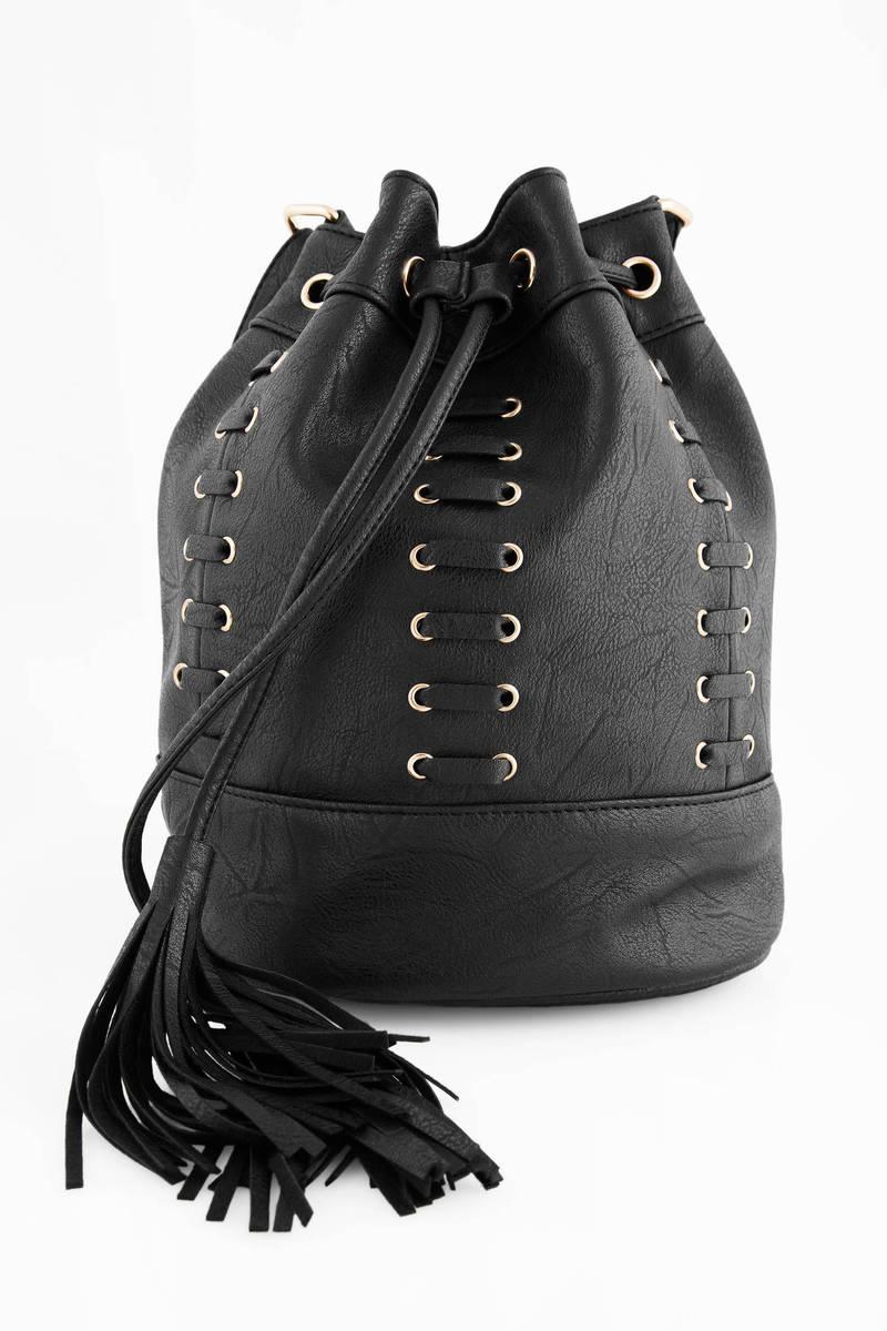 Nicky Black  Bucket Bag