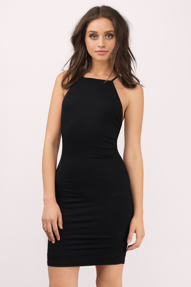 Nicole Black Bodycon Dress