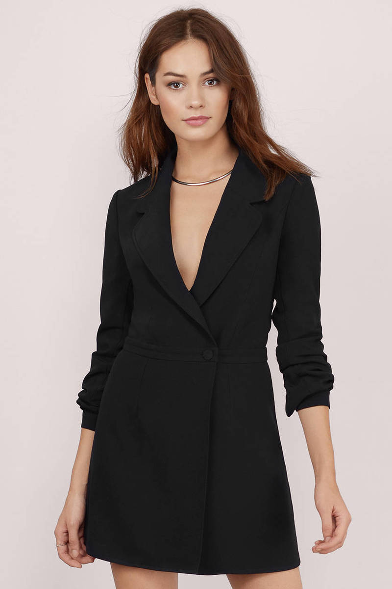 Night Owl Black Wrap Dress