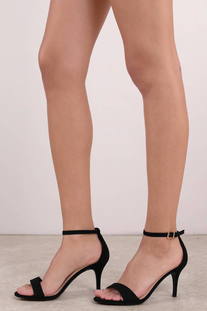 Black Heels - Comfortable Kitten Heels - Short Black Heels ...