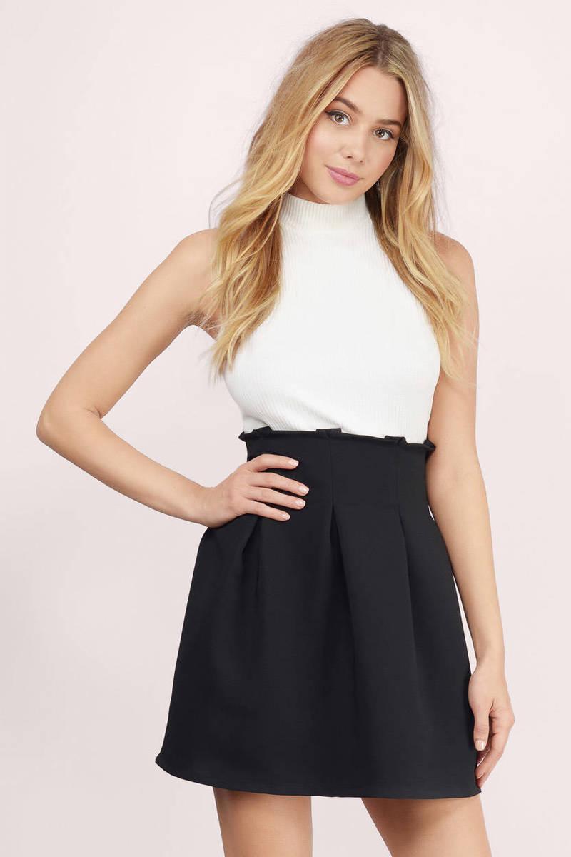 Nila Black Skater Skirt