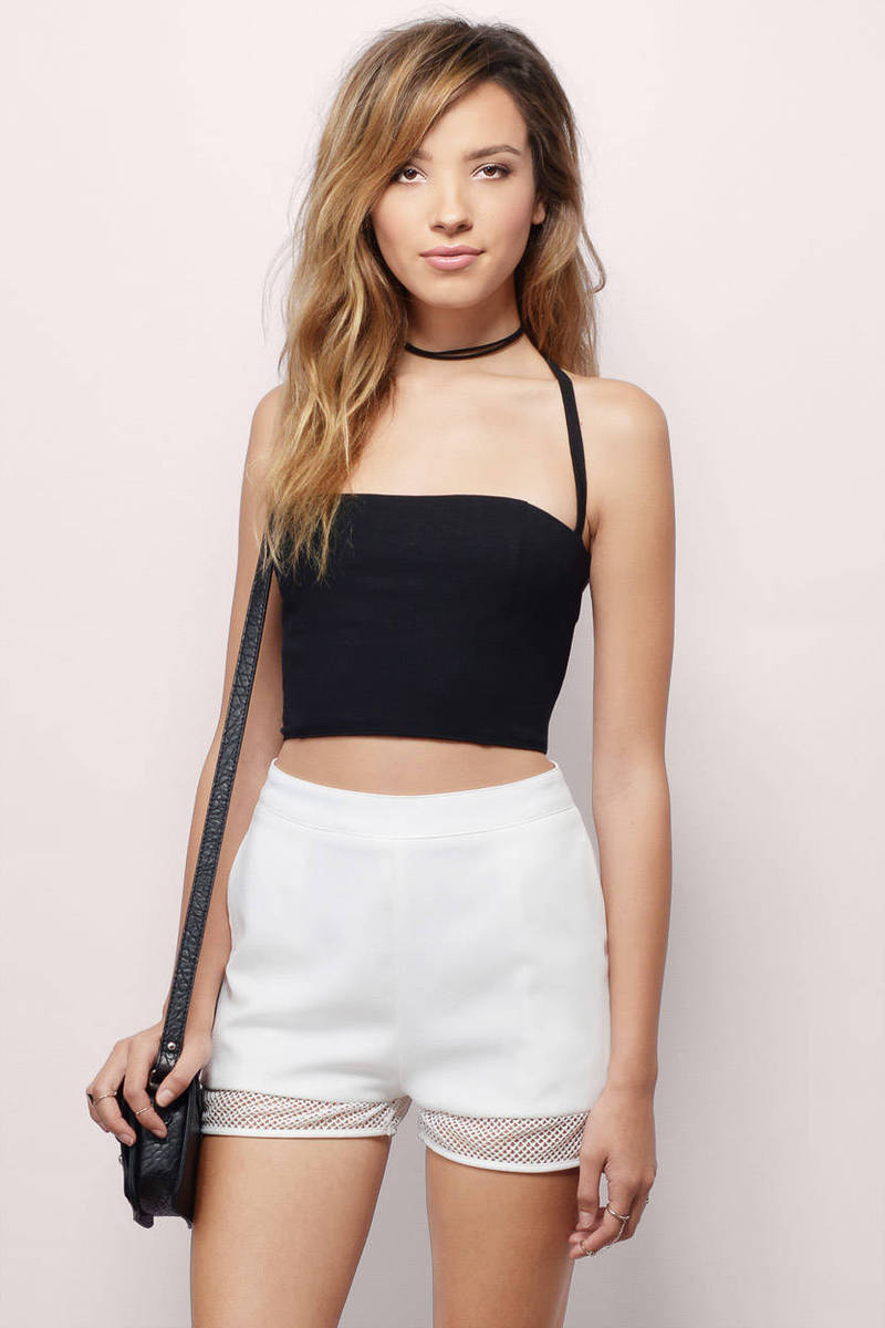 No Substitute White Crop Top