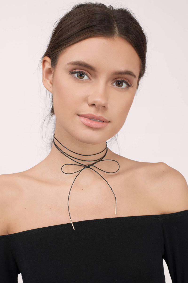 No Time Black  Wrap Choker