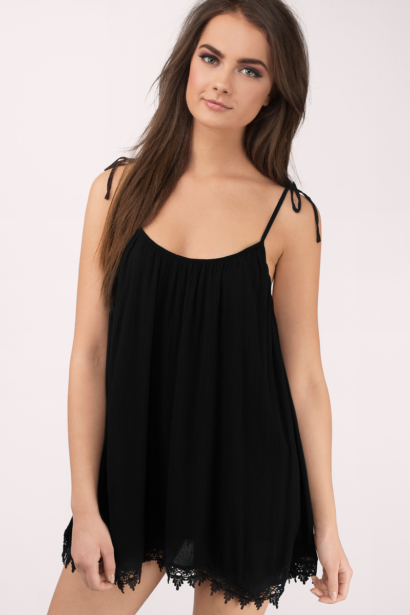 No Validation Needed Black Shift Dress