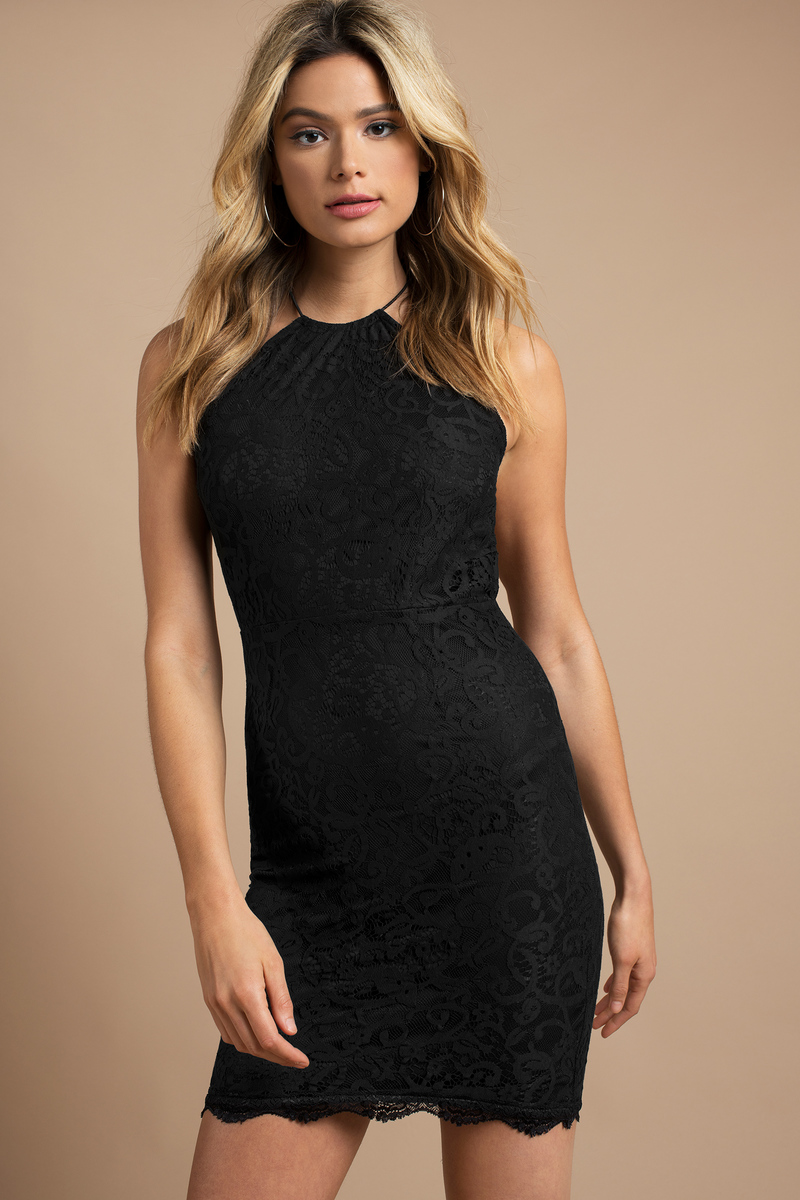 Oh So Sweet Black Bodycon Dress