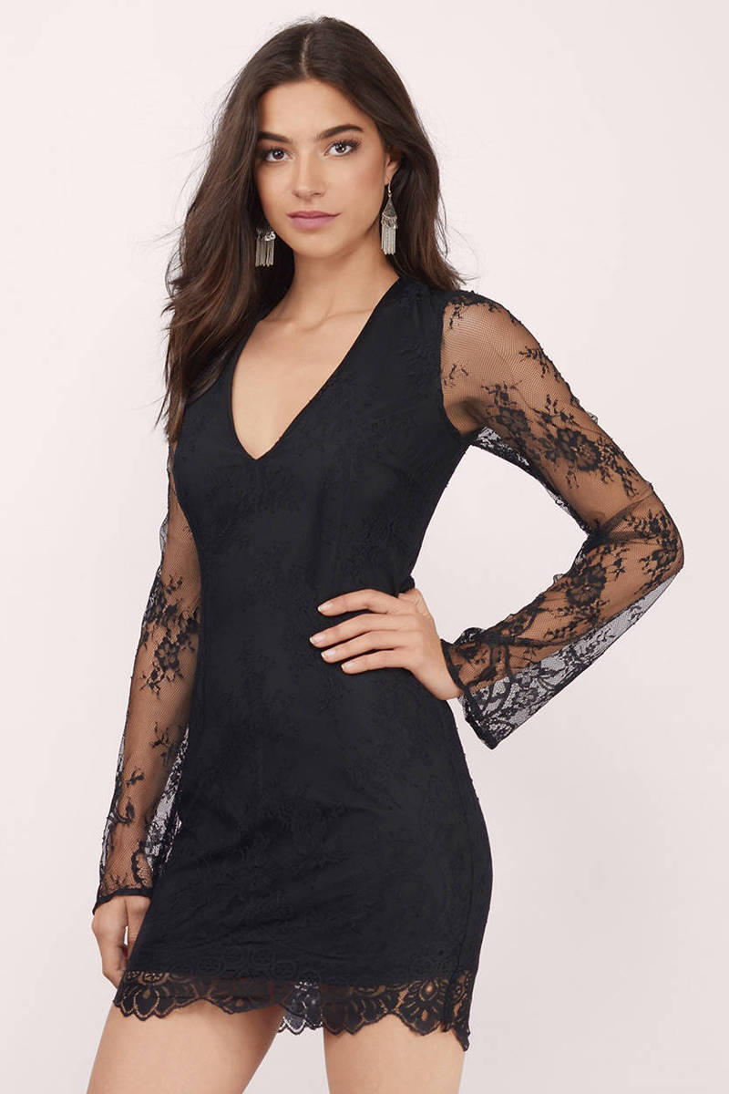 One Night Black Lace Dress