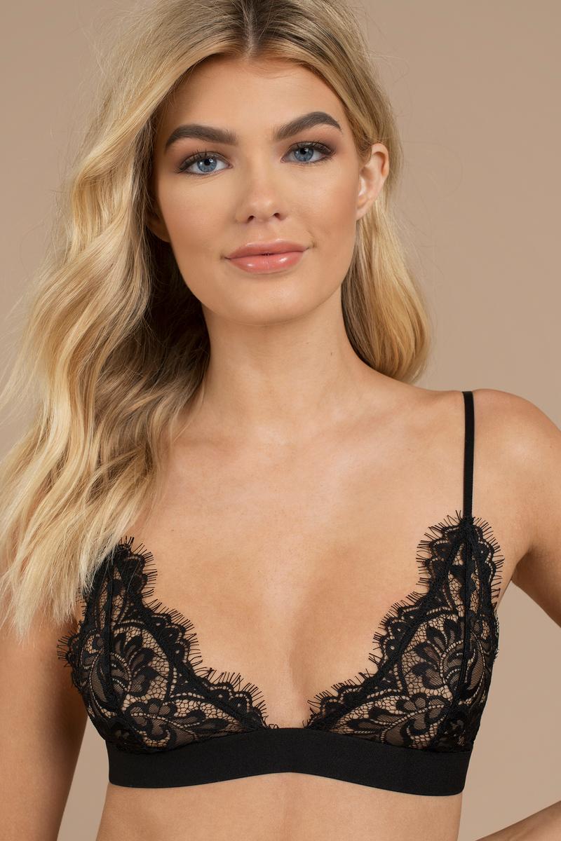 f9f0e0a817100b Black Bra - Eyelash Lace Bra - Black Sheer Lace Bralette - AU  13 ...