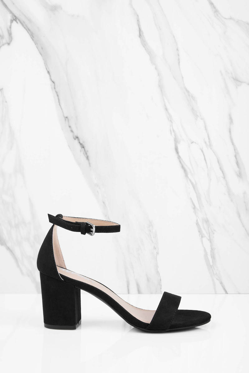 6b815506dd11 Black Report Footwear Heels - Spring Formal Heels - Short Black ...