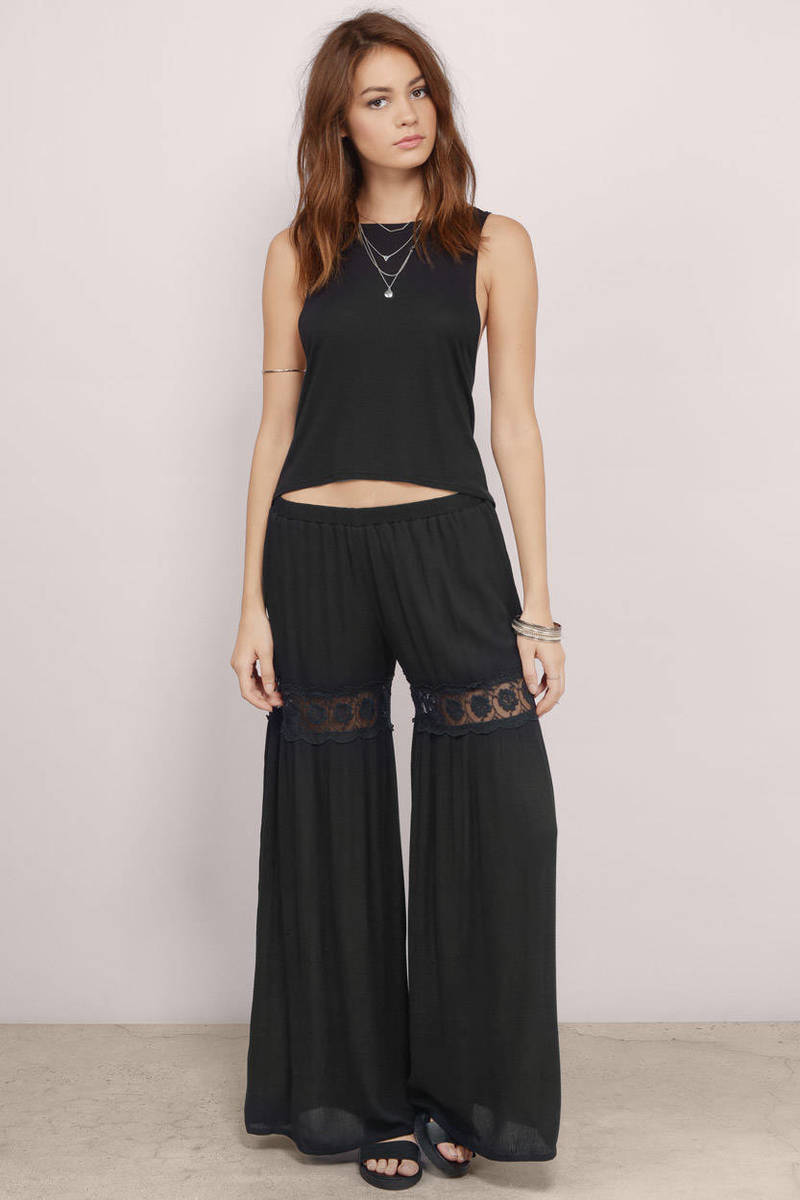 Passion For Life Black Pants