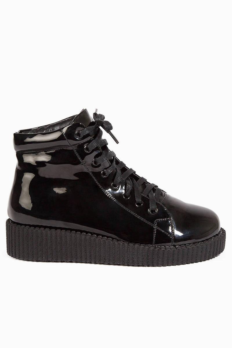 High Shine Flatform Boots