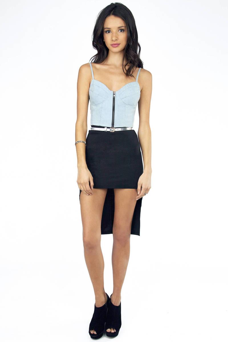 Patrice Hi Low Pencil Skirt