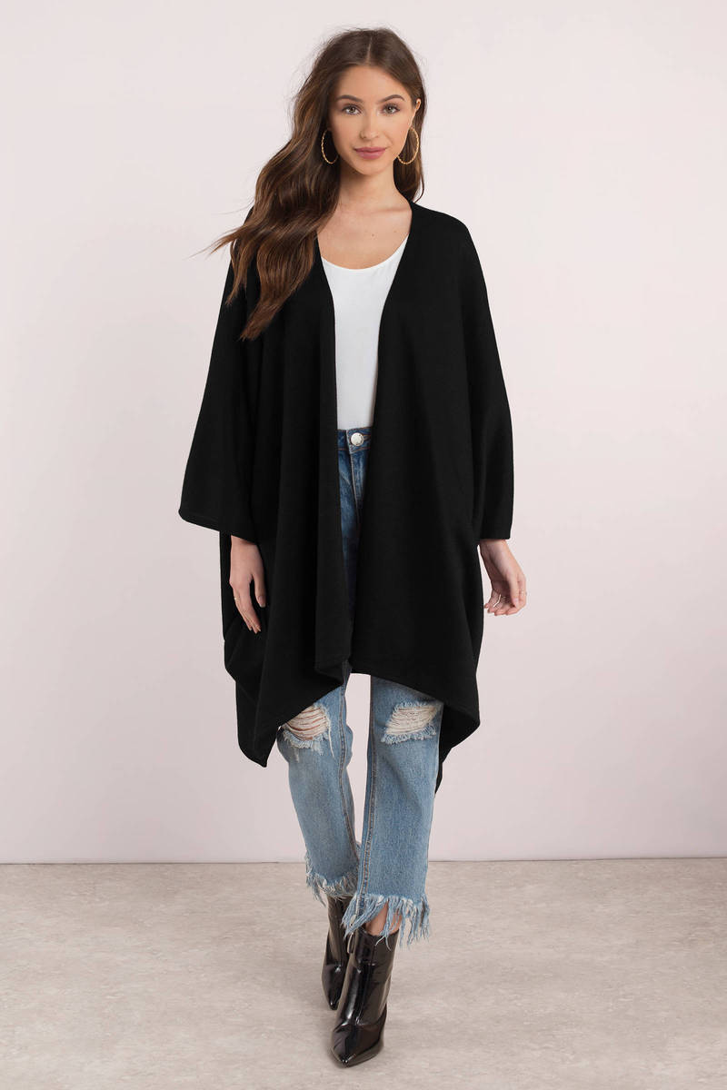 Payton Black Oversized Cardigan - € 67 | Tobi IE