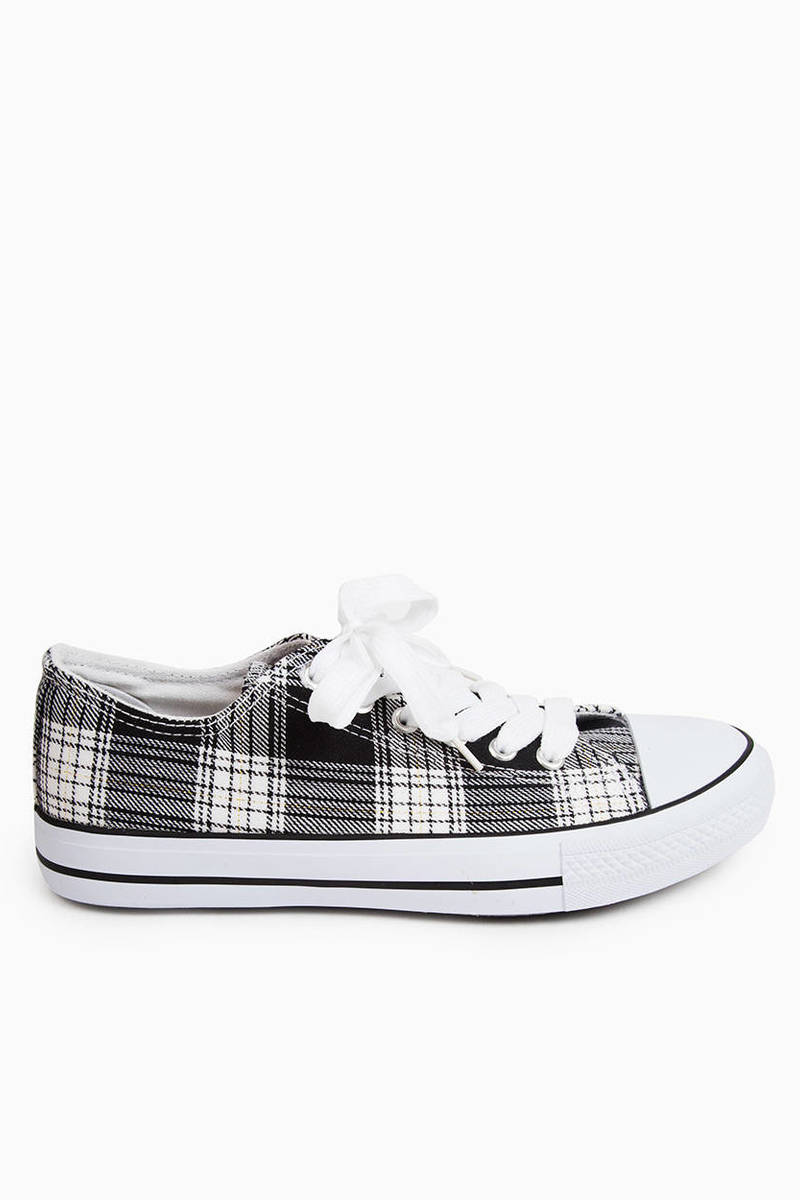 Plaid About You Sneakers