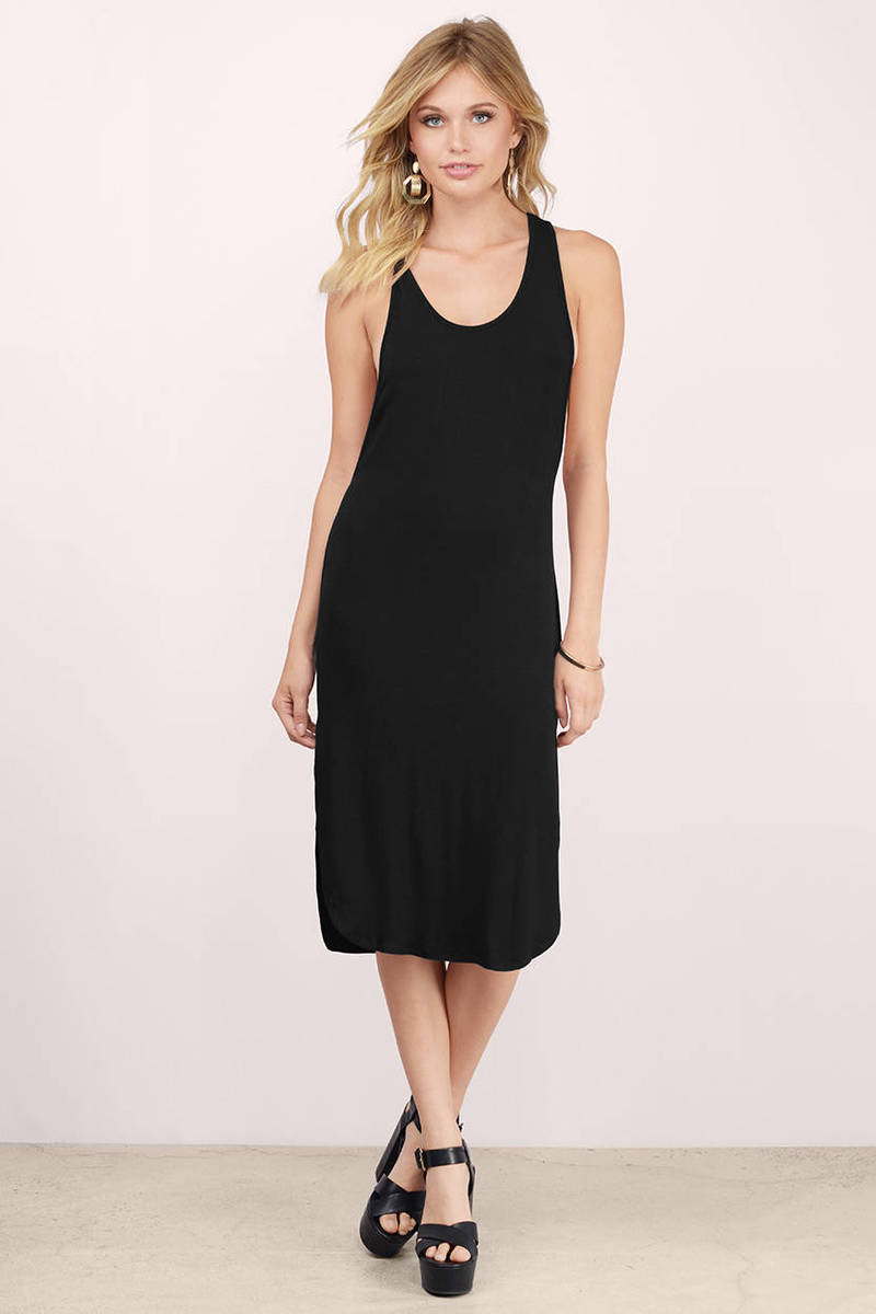 Play No Games Black Midi Dress