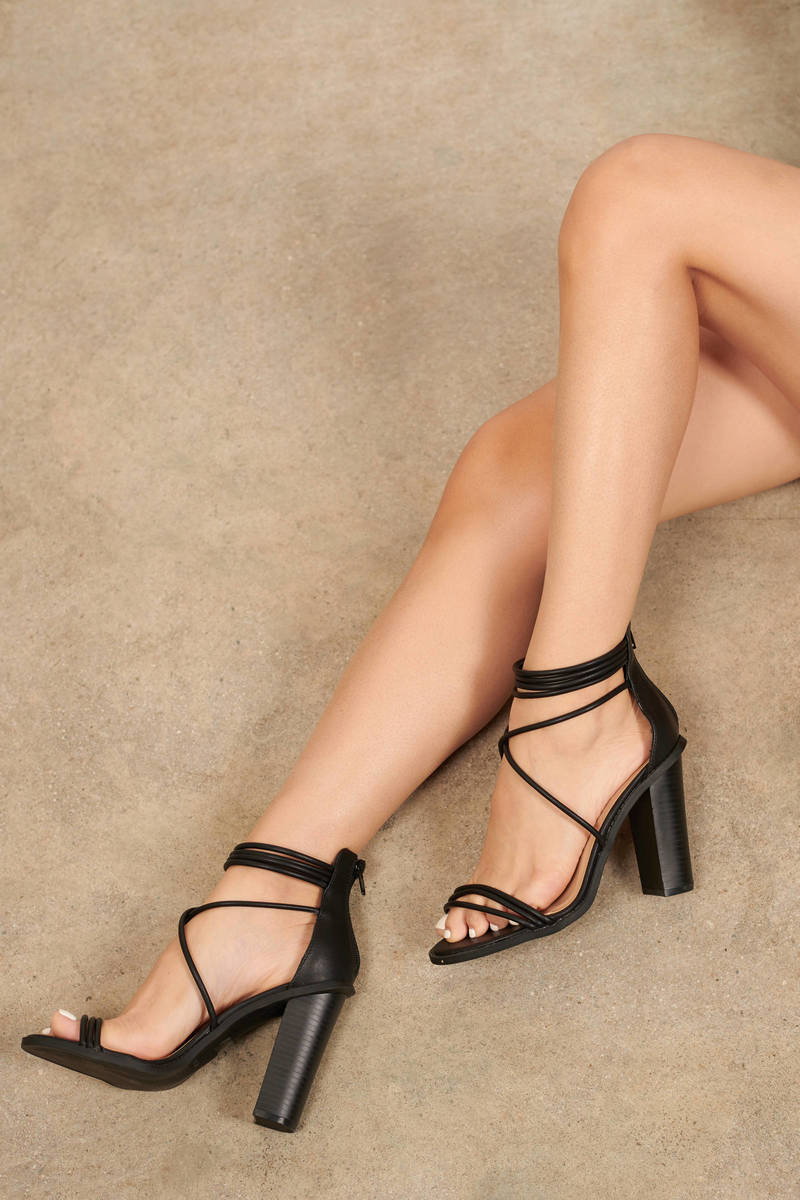Black Strappy Heels - NZ$ 51 | Tobi NZ
