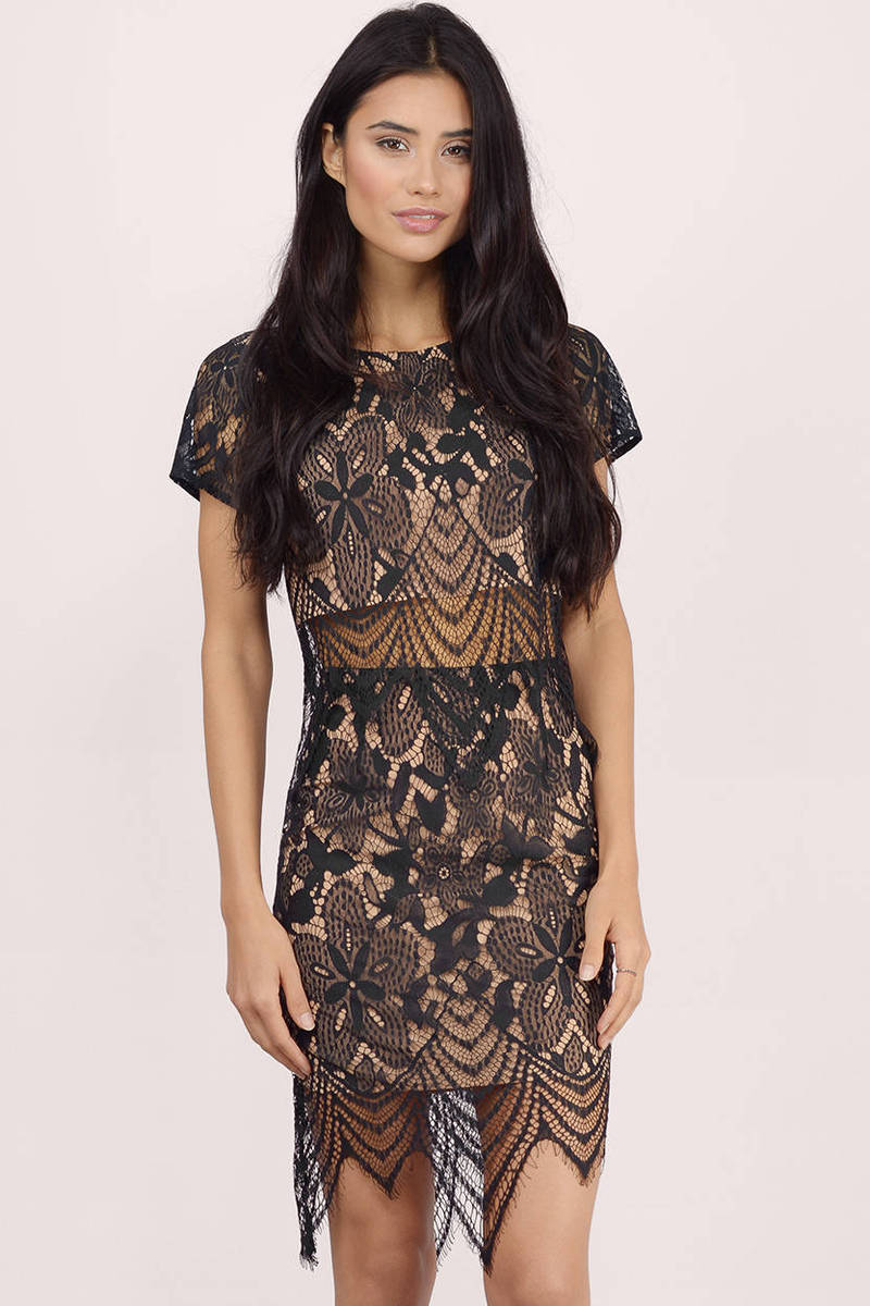 Pretty Thoughts Wine Guava Lace Skirt