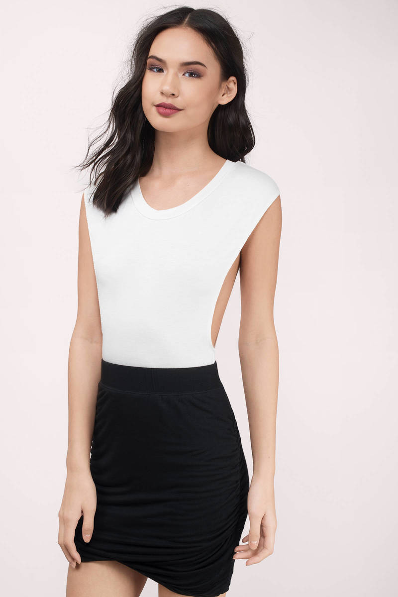 Pull It Together Charcoal Mini Skirt